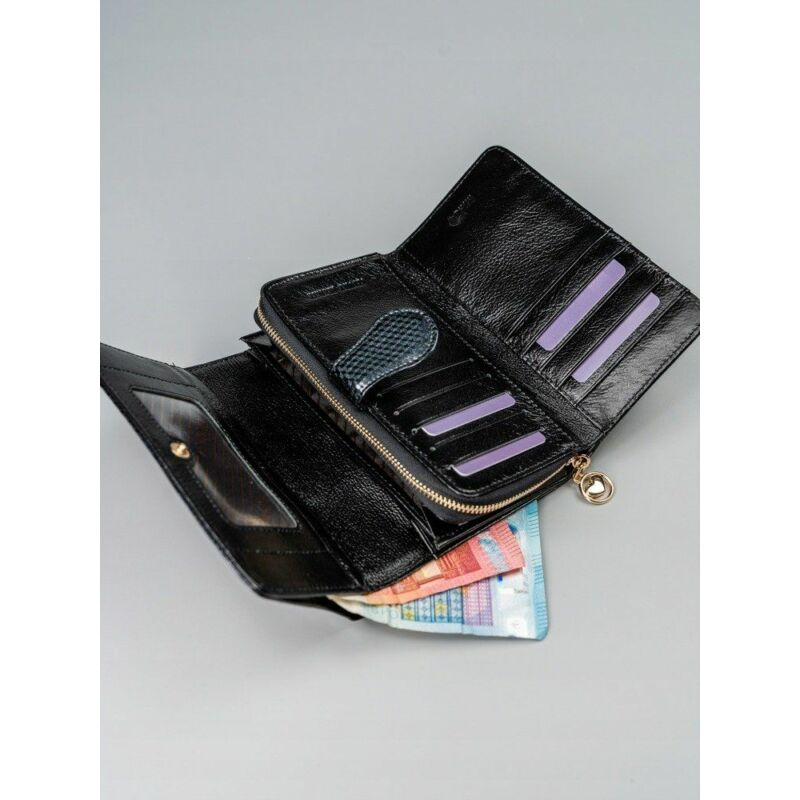 Solier SBR8806 elegáns RFID  női pénztárca -fekete-9