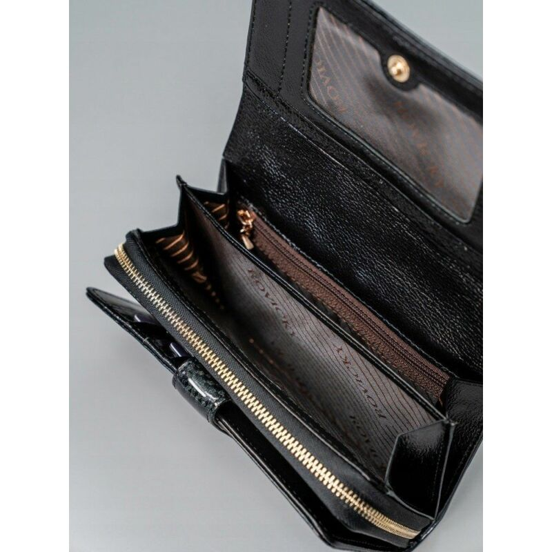 Solier SBR8806 elegáns RFID  női pénztárca -fekete-11