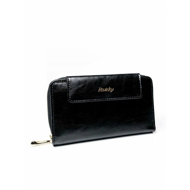 Solier SBR8808 elegáns RFID  női pénztárca -fekete