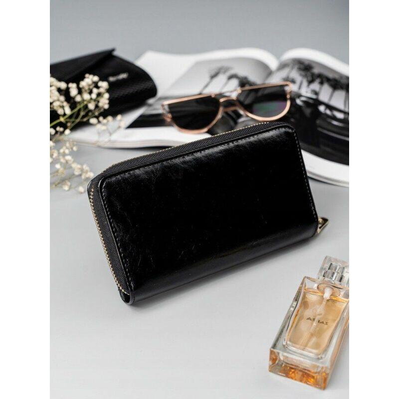 Solier SBR8808 elegáns RFID  női pénztárca -fekete-1