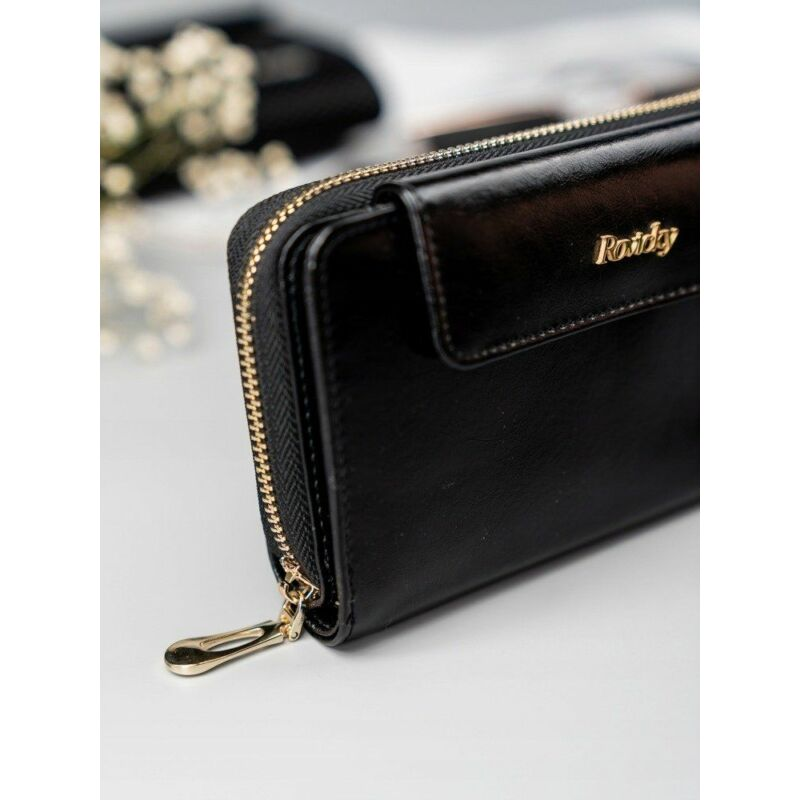 Solier SBR8808 elegáns RFID  női pénztárca -fekete-3
