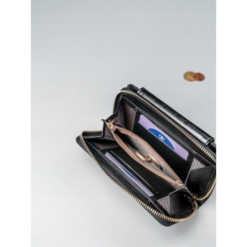 Solier SBR8808 elegáns RFID  női pénztárca -fekete-4