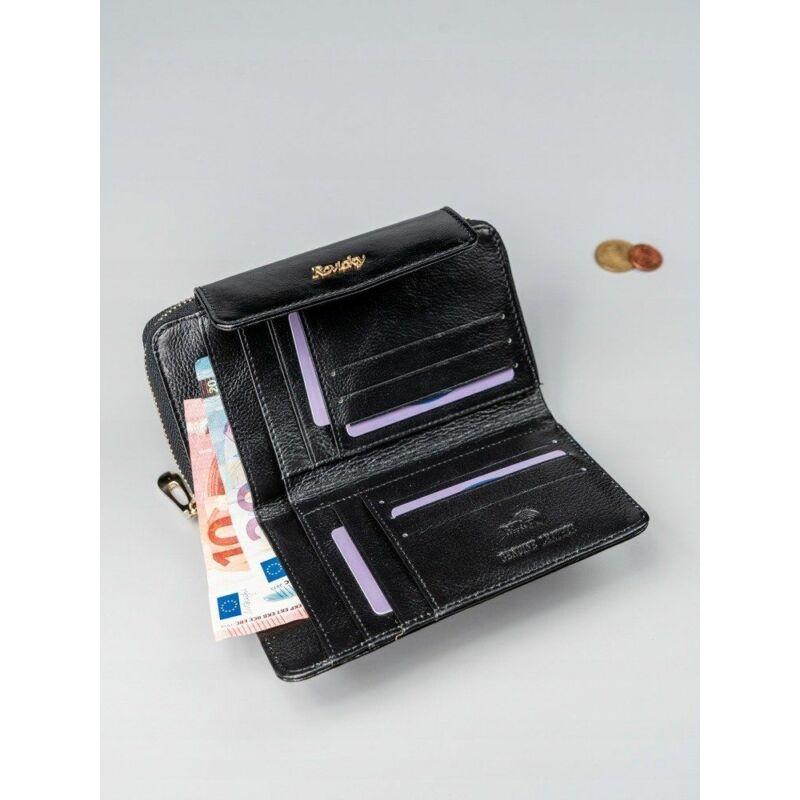 Solier SBR8808 elegáns RFID  női pénztárca -fekete-5