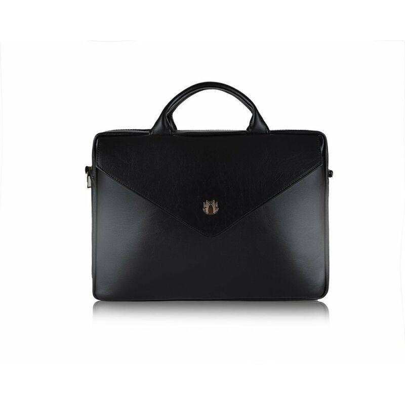 Solier FL15  női bőr laptoptáska- fekete