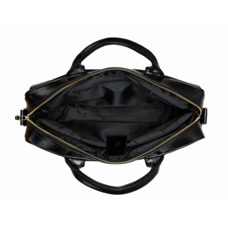 Solier FL16 női bőr laptoptáska- matt fekete