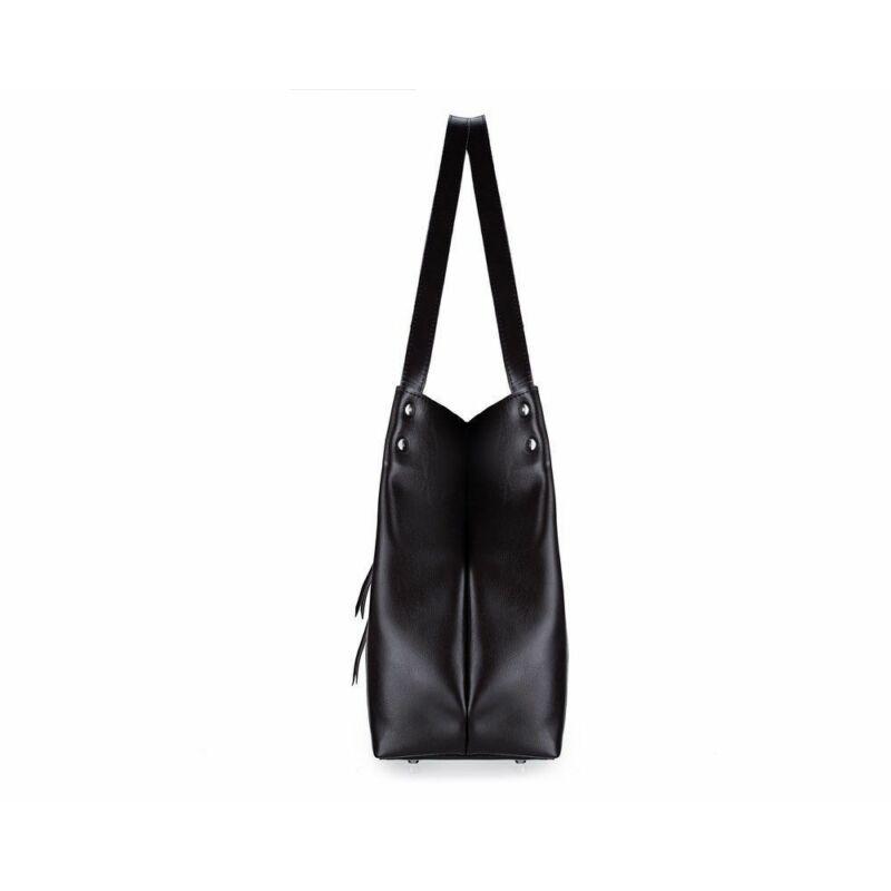 Solier FL18 elegáns női bőr válltáska- fekete -4