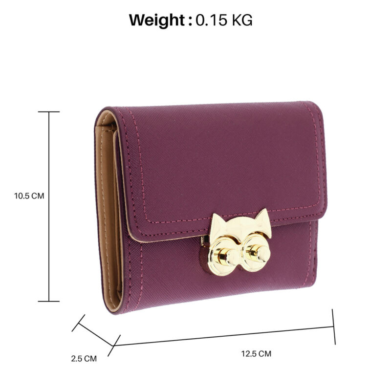 AG Női pénztárca baglyos csattal-lila
