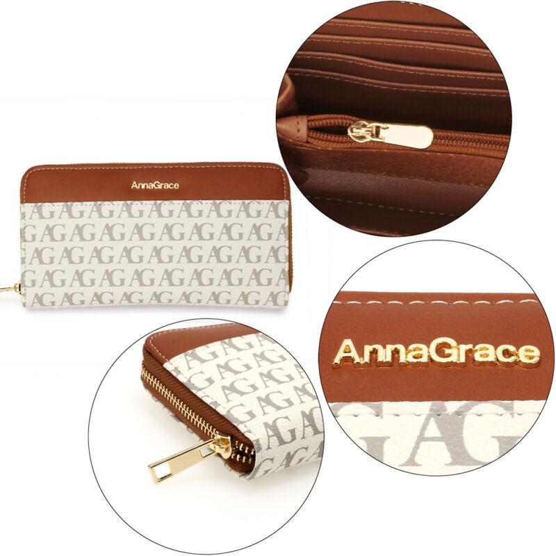 AG cipzáras női pénztárca-fehér