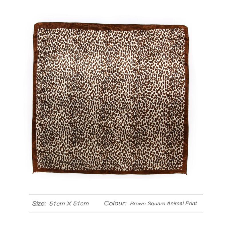 Leopárd mintás kendő-barna