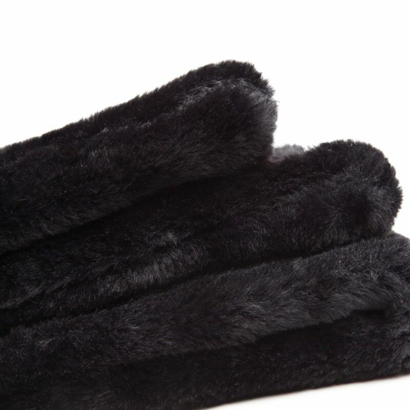 Plüss női sál-fekete