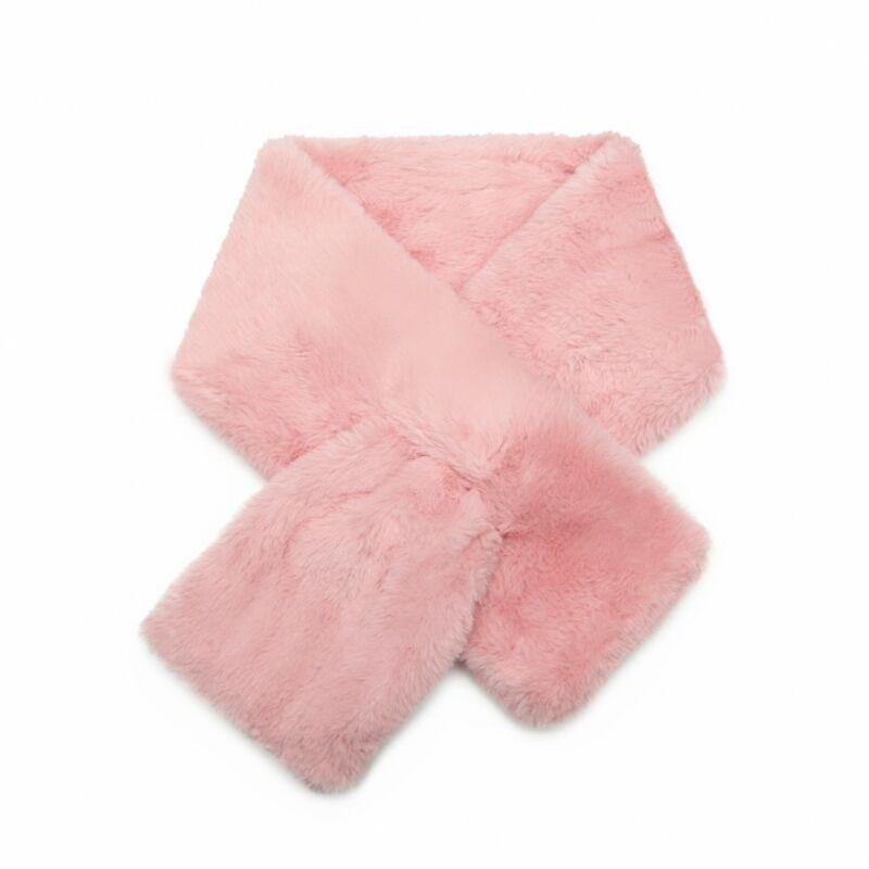 Plüss női sál-rózsaszín