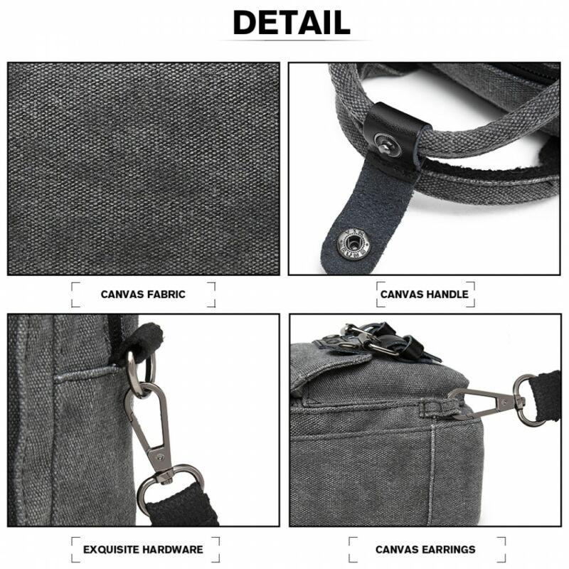 KONO  vászon oldaltáska-mini hátizsák fekete