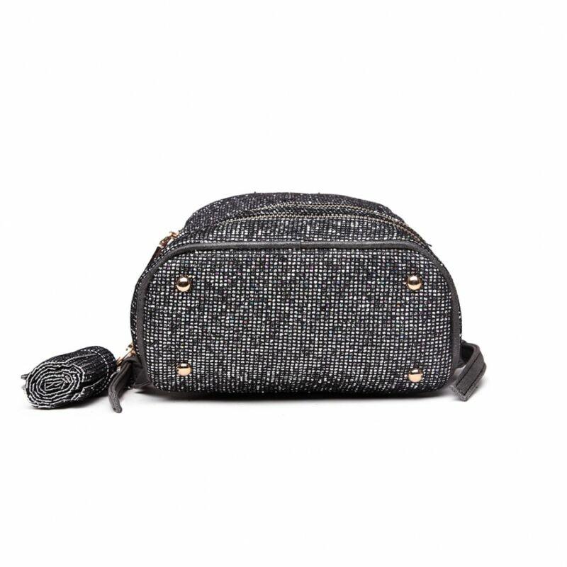 Suzy LT1763 Divatos kis hátitáska-szürkés-fekete
