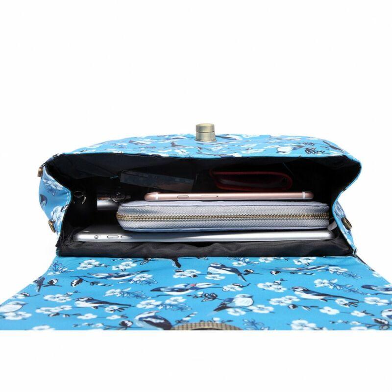 Martha E6640-16J madármintás oldaltáska-kék