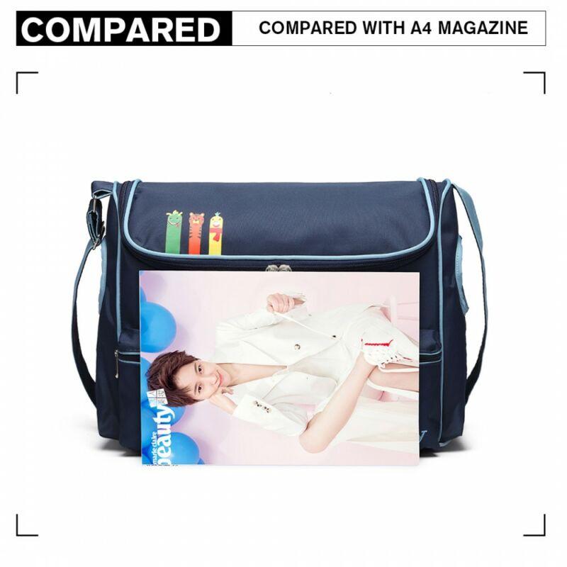 Baby Temgerkék-világoskék szín babakocsi táska pelenkázó táska divatos szegéllyel