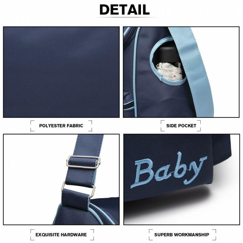 Baby Barna-rózsaszín babakocsi táska pelenkázó táska A4-es