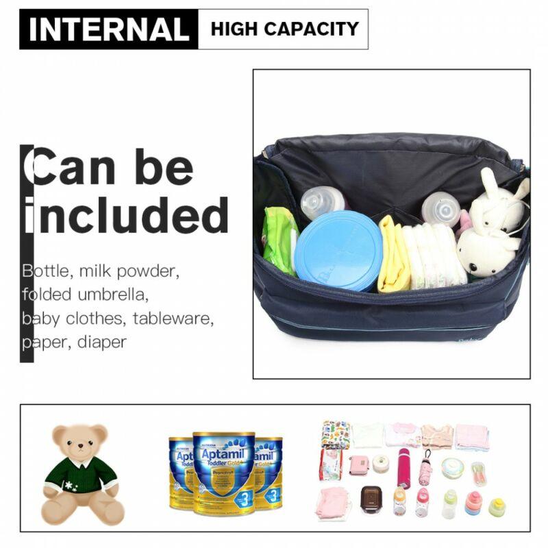 Baby Barna-rózsaszín babakocsi táska pelenkázó táska nagy méret - minden belefér