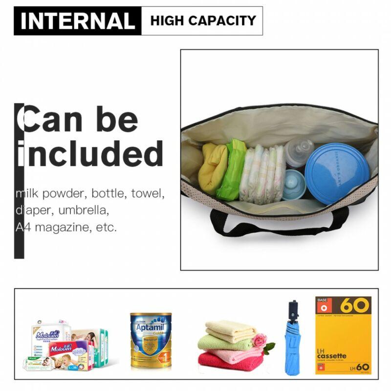 5 db-os babatáska szett: nagy pelenkázó táska  berendezve
