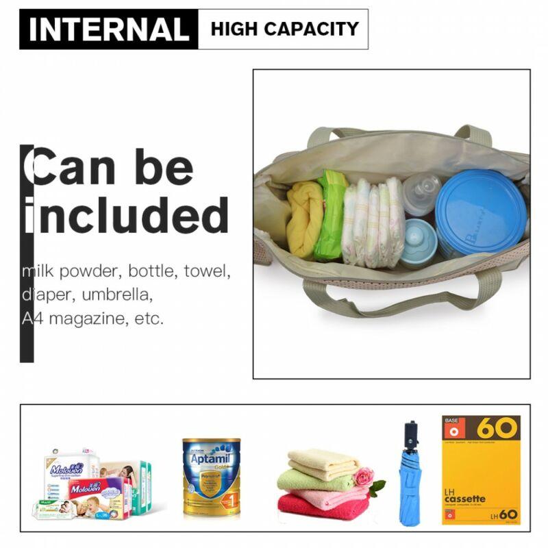 5 db-os babatáska szett: nagy pelenkázó táska méretei