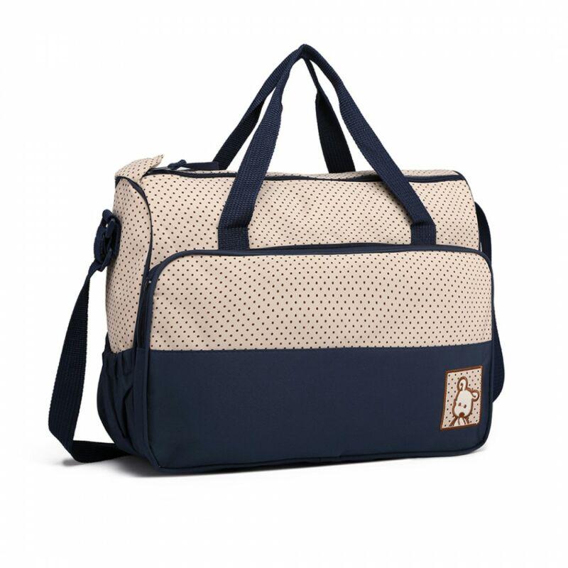 5 db-os babatáska szett: nagy pelenkázó táska állítható vállpánttal