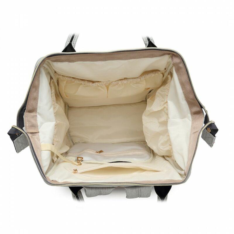 divatos kék pelenkázó táska több rekesszel