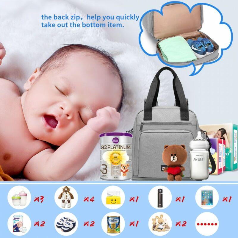 Multifunkcionális baba-utazó táska - szürke